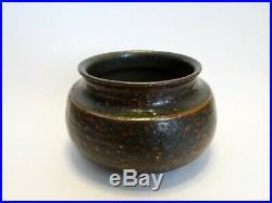 Antique Scandinavian Swedish Wilhelm Kage Stoneware Pottery Vase 1930s