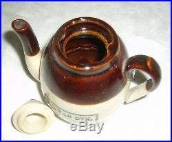 Antique Sherwood Miniature Stoneware Jas Van Dyk Tea Importer Advertising Teapot