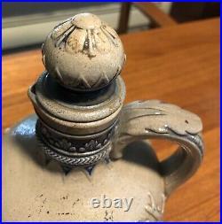 Antique Simon Gerz Stoneware Jug Golf