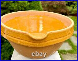 Antique Slipware French Art Pottery Confit Stoneware Jaspe Milk France Pitcher