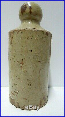 Antique South Australian Pottery T. J Monro Gawler Stoneware Ginger Beer Bottle
