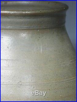 Antique Southern Pottery 4gal Crock Churn Salt Glaze Tennessee Kentucky Carolina