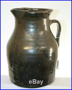 Antique Southern Pottery Pitcher Stoneware 9 3/4'