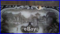 Antique Staffordshire Washington Vase Pearl Stoneware Platter P. W. & Co. Rare