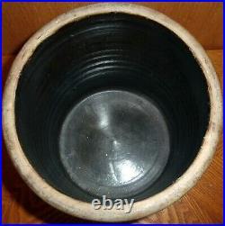 Antique Stoneware 1 1/2 Gal Salt Glazed Jug Blue Cobalt Crock Redwing