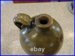 Antique Stoneware 2 Gallon Saltglazed Jug R. W. Russell Cobalt Decoration
