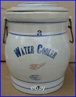 Antique Stoneware 3 Gallon Water Cooler Red Wing Potteries Red Wing, MI