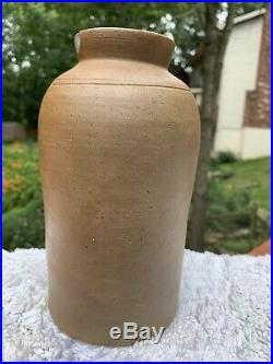 Antique Stoneware Jar Stamped B. C. Milburn from Alexandria Virginia mid 1800s