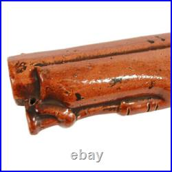 Antique Stoneware Salt-Glazed Pistol Flask c. 1840s Doulton & Watts Pottery