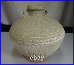 Antique Thai Sawankhalok 14th/15th Century Stoneware 5.75 14.6cm Jar 57064
