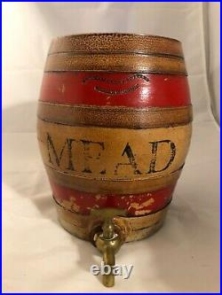 Antique Uk Fulham pottery stoneware dispenser crock mead antique alcohol uk Bar