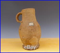 Antique Very Early German/Rhineland Koln Pottery/ Proto Stoneware Jug Circ 1300