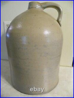 Antique Vintage 3 Gallon Jug Crock Salt Glaze Stoneware Pottery Jug 15 Tall