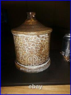 Antique Western Stoneware Monmouth, Illinois Pottery Birdhouse