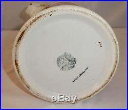 Antique Wheeling Pottery LARGE STONEWARE TANKARD PITCHER 12.5H x 9W 1880