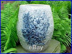 Antique Whites Utica New York Stoneware Polar Bear Water Cooler Crock Pottery