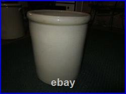 BLACK SIX! 6 Gallon Redwing Minnesota Large Wing Union Crock Stoneware Pottery