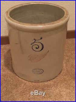 Beautiful Rare Red Wing Pottery 5 Gallon Large Antique Stoneware Crock