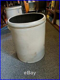 Blue Bee Sting! Vintage Antique Huge 15 Gallon Stoneware Crock Pottery