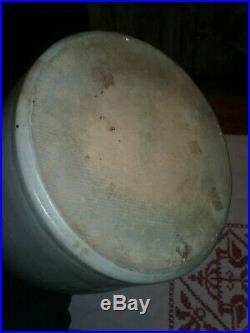 Decorated stoneware Williamsport PA antique jug 1880s