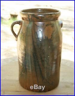 Early Texas Pottery Stoneware 4 Gallon Crock Churn Jug Hunt Rusk County Tex
