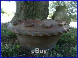 Evans Pottery Dexter, Mo Old Stoneware Garden Planter 11 1/4 Diameter