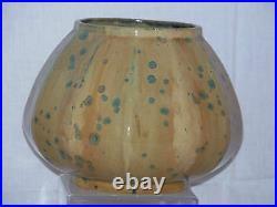 Fourmaintraux et Delassus French Art Nouveau Crystallisation Stoneware Vase