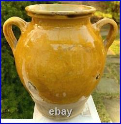 French Antique Art Pottery Pot A Confit Stoneware Terracotta Weekend Sale