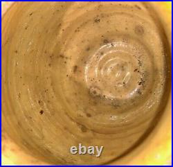 French Antique Pottery Confit Pot Earthenware Vessel Stoneware Glazed Muststard