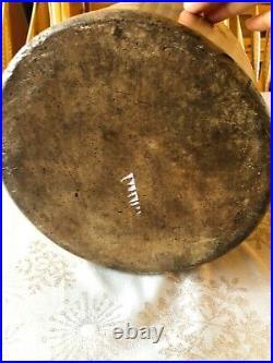 Gamble Bros Newark NJ Stoneware Jug 1800s Antique Fulper Pottery Cobalt Script