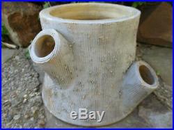 Gorgeous Evans Pottery Dexter, Mo Vintage Textured Log Planter Old Paint
