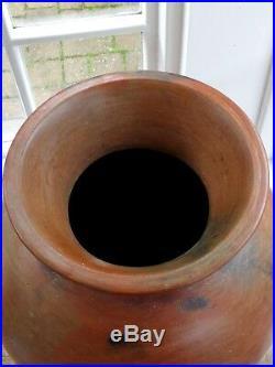 HUGE Japanese Studio pottery Bizen Tsubo Edo Period Stoneware Handmade