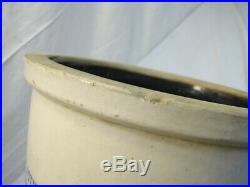 Hawthorn Pottery Co PA Stoneware 1/2-Gal Crock Blue Decorated H. P. HP C