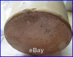 J Jacob Zipf Newark Nj Stoneware Pottery 2 Gallon Jug Blue Double Tulip Design
