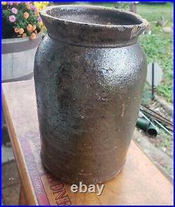 Joseph Gregory Baynham Edgefield Pottery One Gallon Stoneware Jar