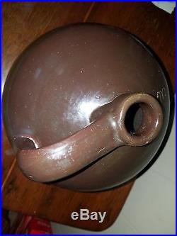 Large Antique Pottery 3 GAL Stoneware Beehive Jug withHandle Fantastic Glaze EXC