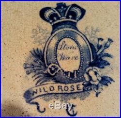 Large Antique Soup Tureen Pottery Blue White Wild Rose Nuneham Courtenay c 1830