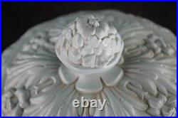 Large Antique Victorian Pottery Cheese Dome On Stand