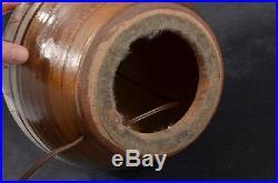 Large MID CENTURY Eames Martz Era DANISH MODERN Pottery LAMP Incised STONEWARE