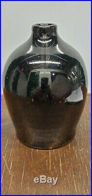 Large Primitive Whiskey Jug Antique Glazed Stoneware Crock 7 inches