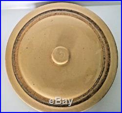Large Rare Vintage Pacific Stoneware Pottery Crock + Lid 1920's 12 tall #5