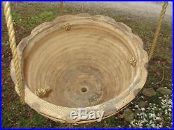 Large Textured Evans Pottery Dexter, Mo Stoneware Garden Planter 11 3/4 D