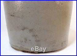 Late 19th C Antique Bangor Stoneware Co Bangor, Me 2 Gal Stoneware Handled Jug
