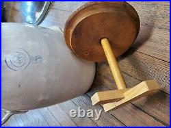 Louisville Pottery Co Indian Head #5 Stoneware Crock Butter Churn Great Cond