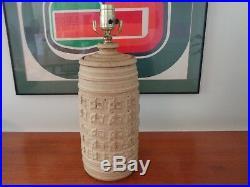 MID Century Modern Stunning Stoneware Pottery Kersey Lamp Light Rare Modernist