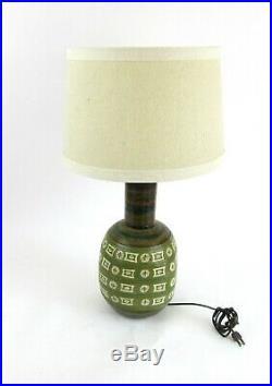 MID Century Stoneware/ Ceramic Pottery Table Lamp Bitossi Raymor. David Cressey