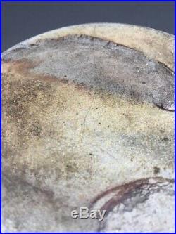 Mid 19th C. Salt Glaze Stoneware Jar With Cobalt Blue