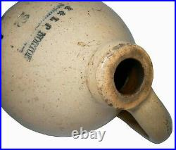 Mid-late 19th C American Antique E & L P Norton Stoneware 2 Gl Jug Bennington Vt