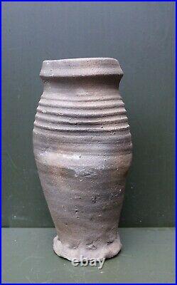 Nice quality 13th Century Germany Siegburg stoneware beer jug, early Gothic