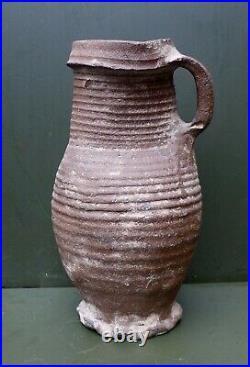 Nice quality 13th Century Germany Siegburg stoneware jug, early Gothic